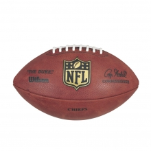 """The Duke"" Laser Engraved NFL Football - Kansas City Chiefs by Wilson"