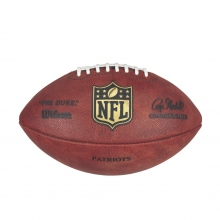 NFL Team Logo The Duke Game Leather Football - New England Patriots by Wilson