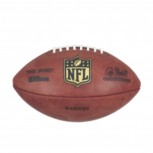 """The Duke"" Laser Engraved NFL Football - Oakland Raiders by Wilson"