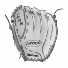 "A2000 V125 White Super Skin 12.5"" Fastpitch Glove - Right Hand Throw by Wilson"