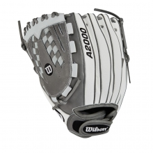 "A2000 V125 White Super Skin 12.5"" Fastpitch Glove - Left Hand Throw by Wilson"