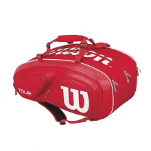 Tour V Red 15 Pack Tennis Bag by Wilson