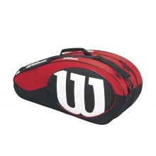 Match Black & Red 6 Pack Tennis Bag by Wilson
