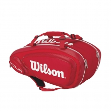 Tour V Red 9 Pack Tennis Bag by Wilson