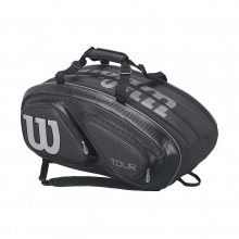 Tour V Black 15 Pack Tennis Bag by Wilson