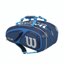 Tour V Blue 15 Pack Tennis Bag by Wilson