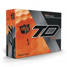 Staff True Distance Golf Balls - Soft Orange by Wilson