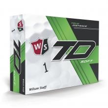 Staff True Distance Golf Balls - Soft White by Wilson
