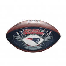 New England Patriots Super Bowl 51 Champion Autograph Football by Wilson
