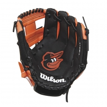 "A200 Baltimore Orioles 10"" Tee Ball Glove by Wilson"