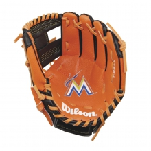 "A200 Miami Marlins 10"" Tee Ball Glove by Wilson"