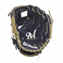 "A200 Milwaukee Brewers 10"" Tee Ball Glove - Right Hand Throw"