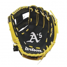 "A200 Oakland Athletics 10"" Tee Ball Glove - Right Hand Throw by Wilson"