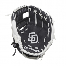 "A200 San Diego Padres 10"" Tee Ball Glove - Right Hand Throw by Wilson"