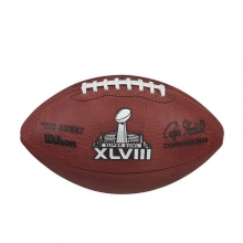 NFL Super Bowl XLVIII Leather Game Football (Pro Pattern) by Wilson