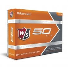 Staff Fifty Elite Golf Balls - Orange by Wilson