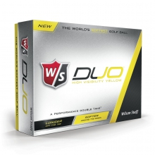 Staff Duo Golf Balls - Yellow by Wilson