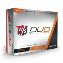 Staff Duo Golf Balls - Orange by Wilson