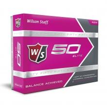 Staff Fifty Elite Golf Balls - Pink by Wilson