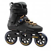 Twister Edge 110 3WD Unisex Adult Fitness Inline Skate, Black and Mango, Premium Inline Skates by Rollerblade