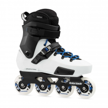 Twister Edge X Unisex Adult Fitness Inline Skate, White and Royal Blue, Premium Inline Skates by Rollerblade