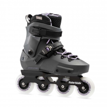 Twister Edge Women's Adult Fitness Inline Skate, Anthracite and Lilac, High Performance Inline Skates by Rollerblade