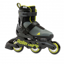 Microblade Free 3WD Kid's Size Adjustable Inline Skate, Anthracite and Lime, High Performance Inline Skates