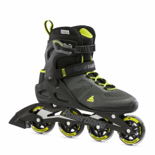 Macroblade 80 Men's Adult Fitness Inline Skate, Black and Lime, Performance Inline Skates