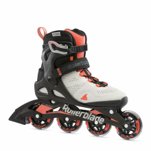 Macroblade 80 Women's Adult Fitness Inline Skate, Grey and Coral, Performance Inline Skates by Rollerblade in Squamish BC