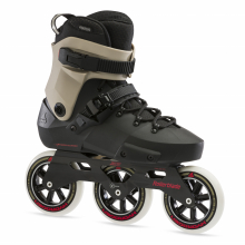 Twister Edge 110 3WD Unisex Adult Fitness Inline Skate, Black and Sand, Premium Inline Skates by Rollerblade