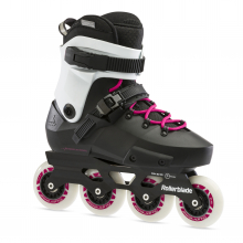 Twister Edge Women's Adult Fitness Inline Skate, Black and Magenta, High Performance Inline Skates by Rollerblade