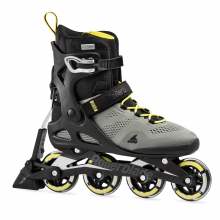 Macroblade 80 ABT Men's Adult Fitness Inline Skate, Silver/Neon Yellow