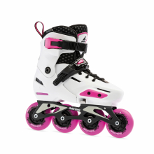 Apex Junior Adjustable Fitness Inline Skate, White/Pink by Rollerblade