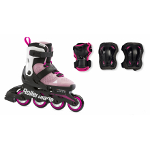 Microblade Combo Kids Adjustable Fitness Inline Skate and 3 Pack Protective Gear by Rollerblade in Squamish BC