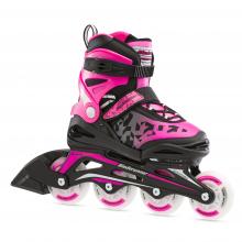 Bladerunner by Rollerblade Phoenix Flash Kid's Adjustable Fitness Inline Skate, Black/Pink by Rollerblade