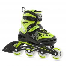 Bladerunner by Rollerblade Phoenix Flash Kid's Adjustable Fitness Inline Skate, Black/Green by Rollerblade
