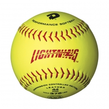 "11"" ASA Lightning Slowpitch Leather Softball"