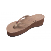 """Madison Six Layer Wedge with a 3/4"""" Medium Braided Strap by Rainbow"""