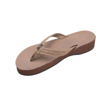 """The Willow - Four Layer Wedge 3/4"""" Braided Strap by Rainbow"""