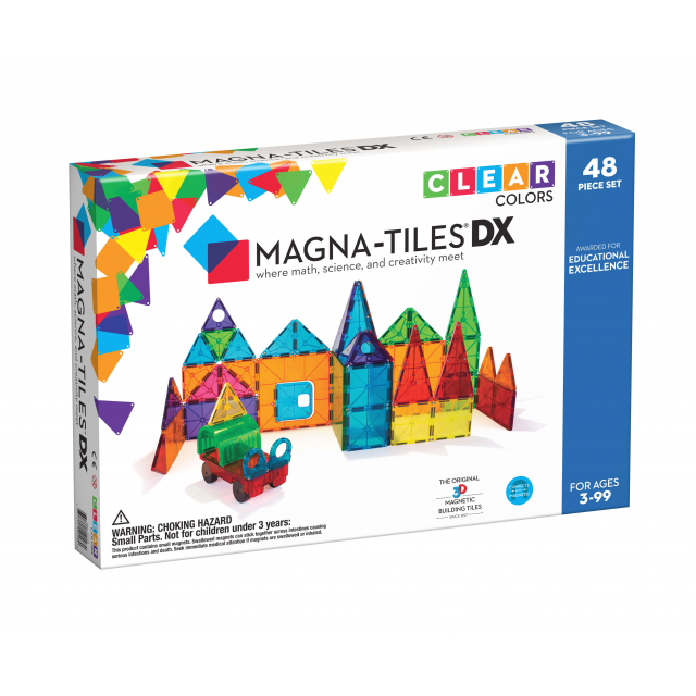 MagnaTiles - Clear Colors 48-Piece DX Set in Bethesda MD