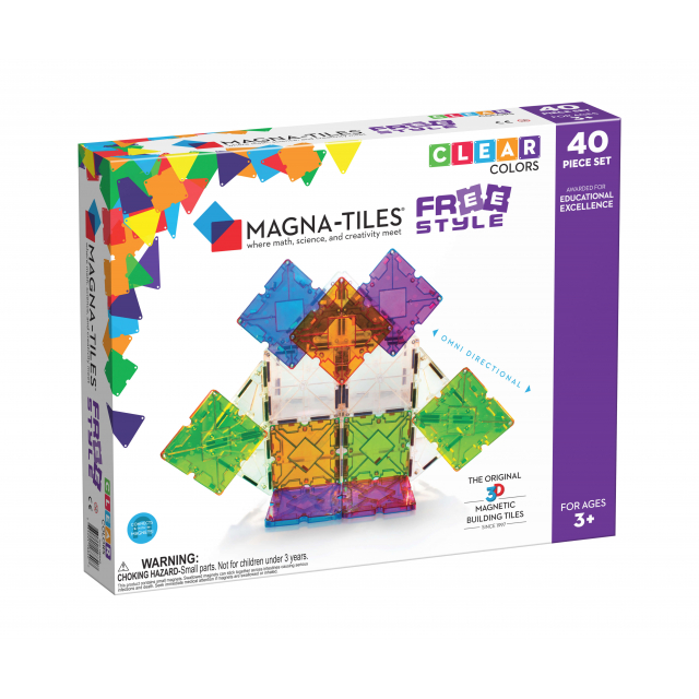 MagnaTiles - Freestyle 40-Piece Set