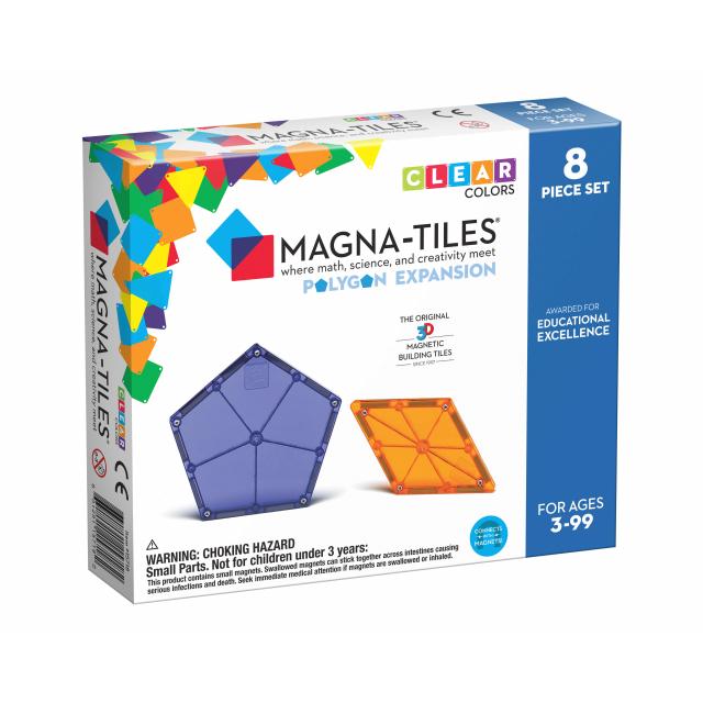 MagnaTiles - Polygons 8-Piece Expansion Set