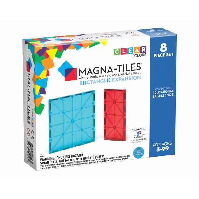 MagnaTiles - Rectangles 8-Piece Expansion Set