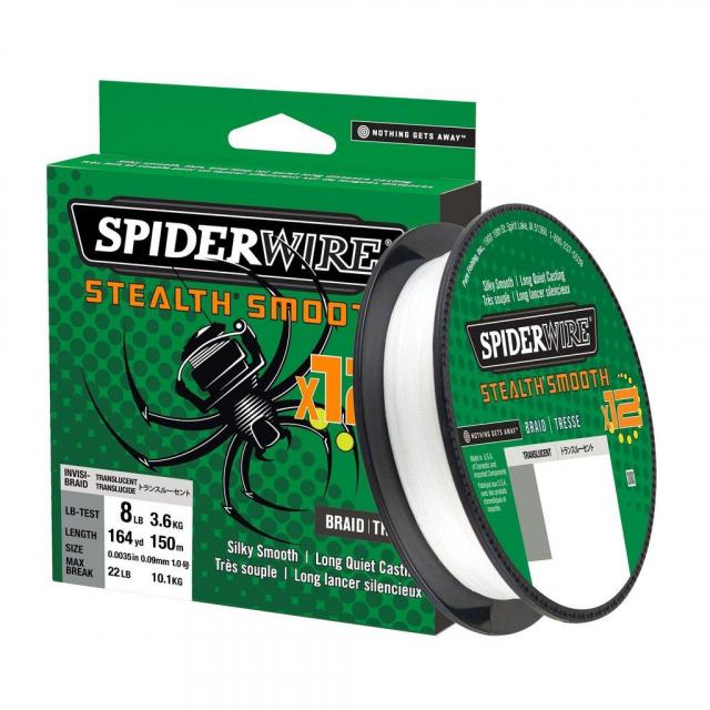 SpiderWire - Stealth Smooth 12 Braid | 2187yd | 2000m | 38.1kg | 83lb | Model #SS12SBK65-TRL