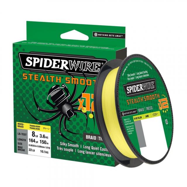 SpiderWire - Stealth Smooth 12 Braid | 2187yd | 2000m | 5.5kg | 12lb | Model #SS12SBK4-HVY