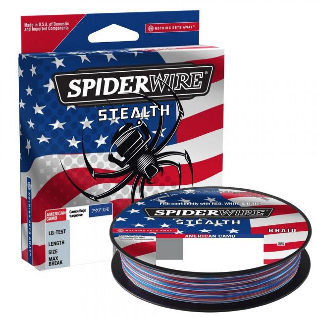 SpiderWire - Stealth American Camo   65lb   29.4kg   Model #SSFS65-ACM