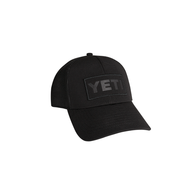 YETI - Black on Black Patch Trucker Hat in Grand Blanc MI