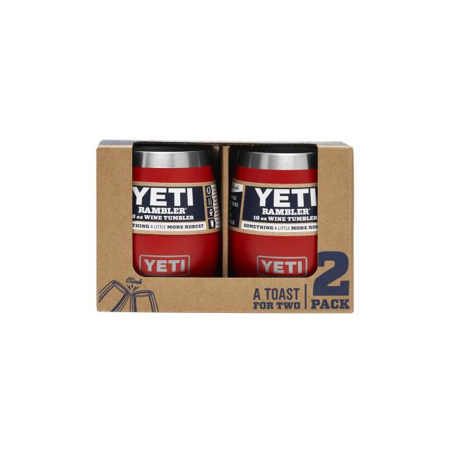 YETI - Rambler 10 Oz Wine Tumbler 2 Pack - Canyon Red