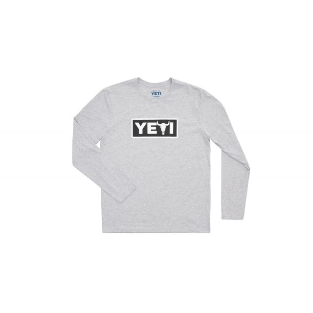 YETI - Yeti Steer Long Sleeve Shirt - Heather Gray - L