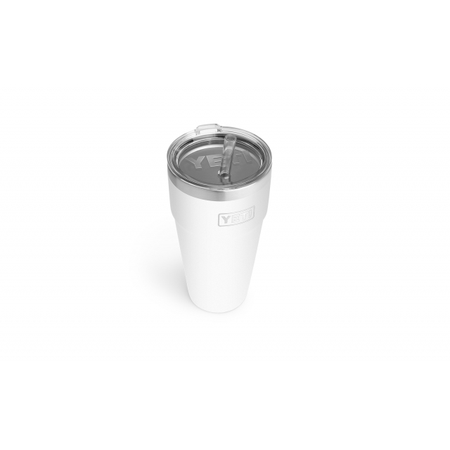 YETI - Rambler 26 oz Stackable Cup with Straw Lid - White in Englewood CO
